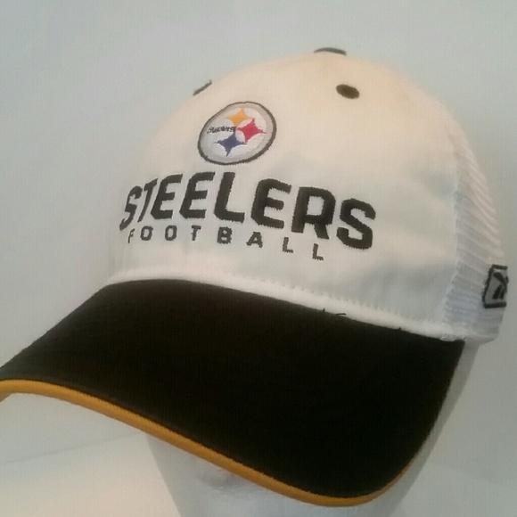 7cd3ca4fc Pittsburgh Steelers Reebok Sideline Trucker Hat